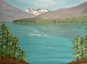 joffre lake painting