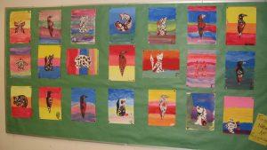 aboriginal art display