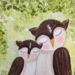owls sleeping