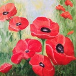 red poppies to remember