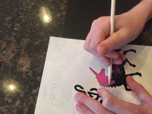 scratch art hanna stencils