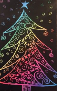scratch art tree