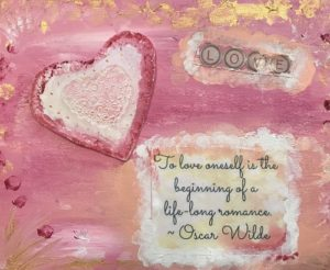to love oneself painting