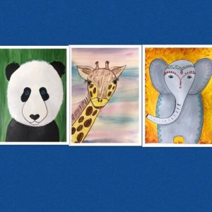 paint and create animals banner