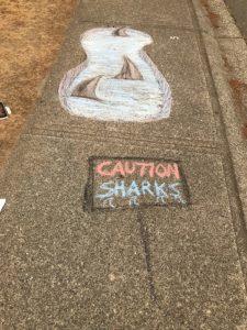 chalk caution