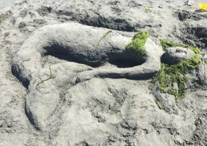 sand art mermaid