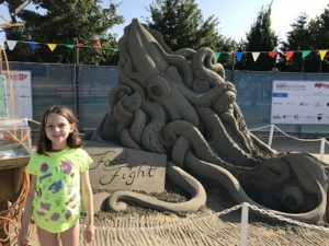 sand art octopus