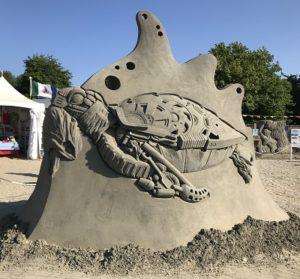 sand art turtle
