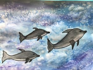 dophin painting